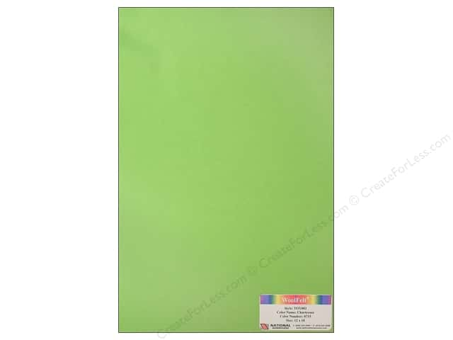 "National Nonwovens WoolFelt 12""x 18"" 35% Chartreuse (12 sheets)"