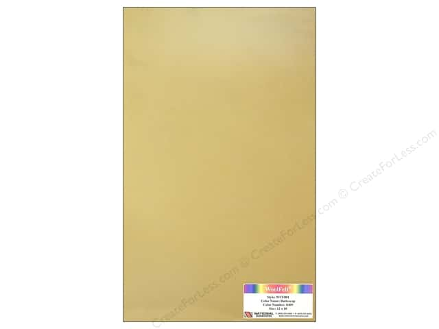 National Nonwovens WoolFelt 12 x 18 in. 20% Buttercup (12 sheets)