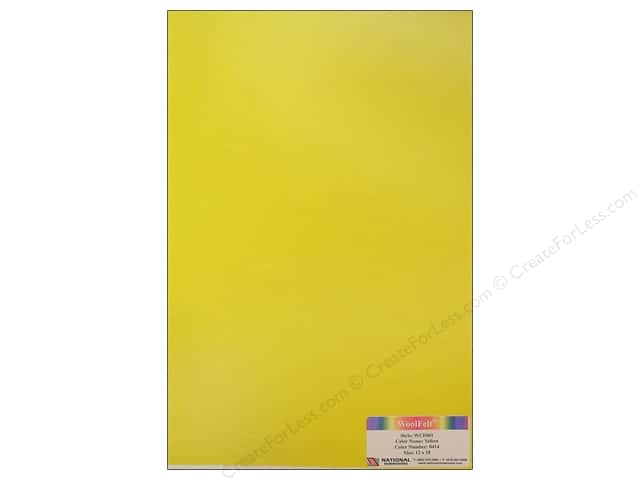 "National Nonwovens WoolFelt 12""x 18"" 20% Yellow (12 sheets)"