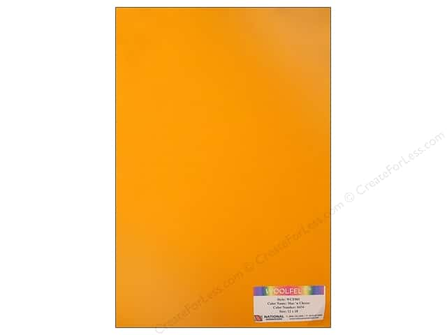 National Nonwovens WoolFelt 12 x 18 in. 20% Mac N Cheese (10 sheets)