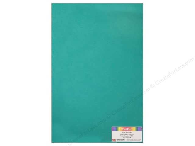 "National Nonwovens WoolFelt 12""x 18"" 20% Peacock (12 sheets)"