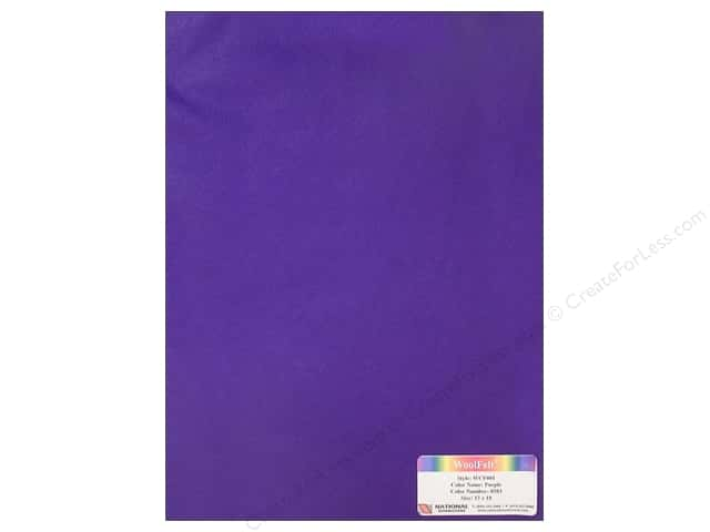 "National Nonwovens WoolFelt 12""x 18"" 20% Purple (12 sheets)"