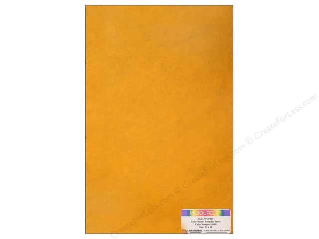 National Nonwovens WoolFelt 12 x 18 in. 20% Pumpkin Spice (12 sheets)