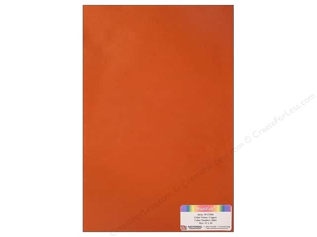 "National Nonwovens WoolFelt 12""x 18"" 20% Copper (12 sheets)"