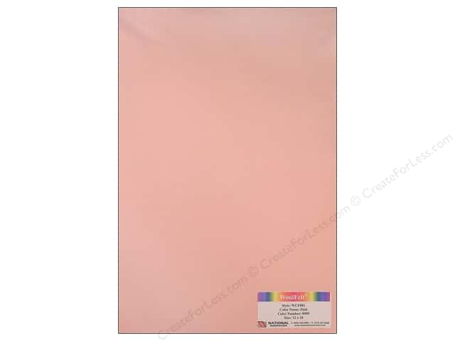 "National Nonwovens WoolFelt 12""x 18"" 20% Pink (12 sheets)"
