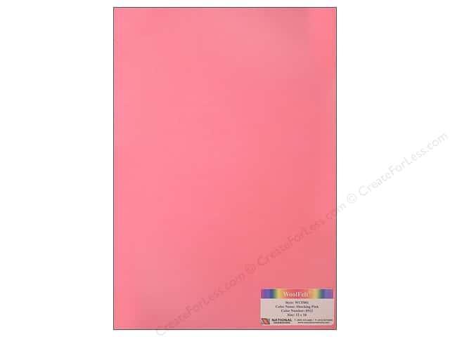 "National Nonwovens WoolFelt 12""x 18"" 20% Shocking Pink (12 sheets)"