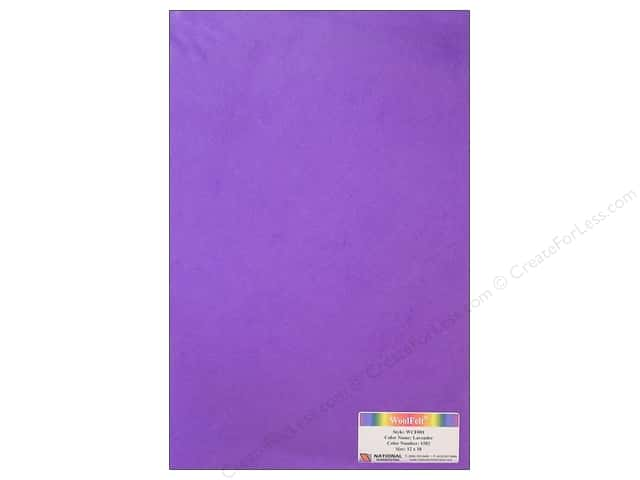 "National Nonwovens WoolFelt 12""x 18"" 20% Lavender (12 sheets)"
