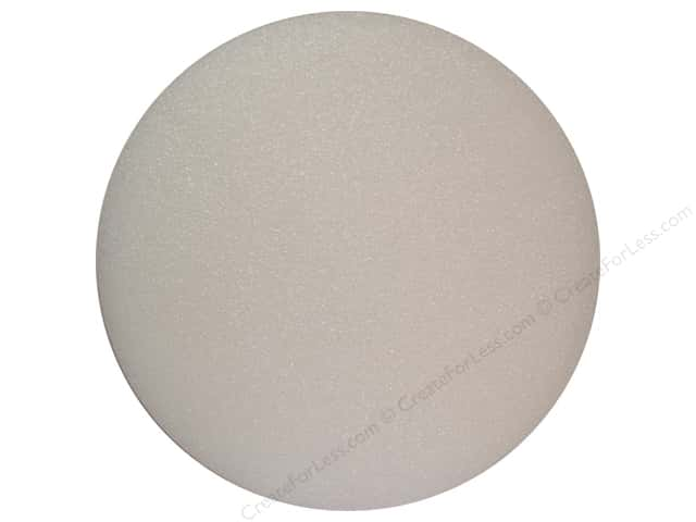 FloraCraft Styrofoam Disc 1 x 10 in. White (166 pieces)