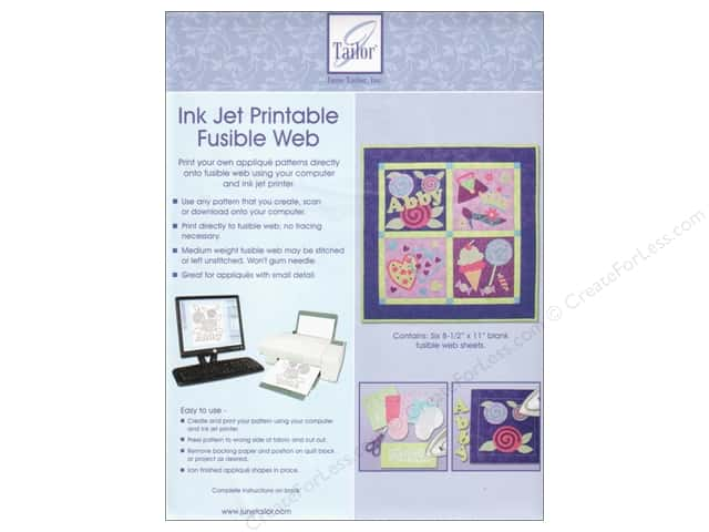 June Tailor Fusible Web Ink Jet Printable 6pc