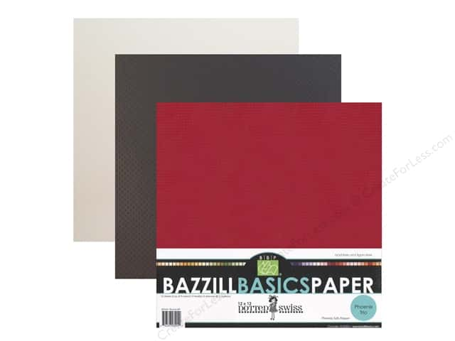"Bazzill Multi Pack 12""x 12"" Dotted Swiss Phoenix"