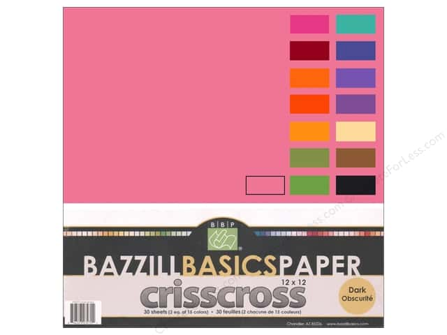 "Bazzill Multi Pack 12""x 12"" Criss Cross Dark"