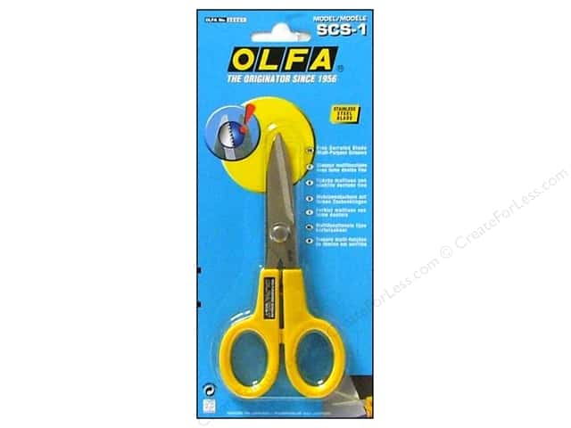 Olfa Scissors Stainless Steel Serrated Edge 5""