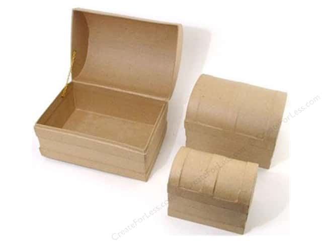 Paper Mache Chest Dome Box Set of 3 by Craft Pedlars (4 sets)