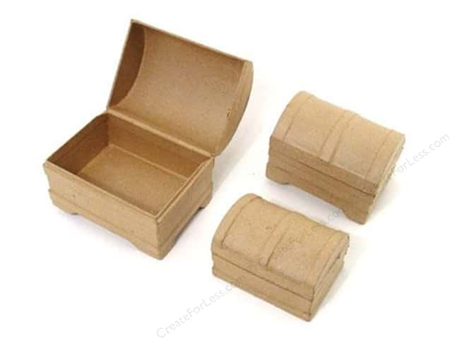 Paper Mache Mini Chest Box Set of 3 by Craft Pedlars (12 sets)