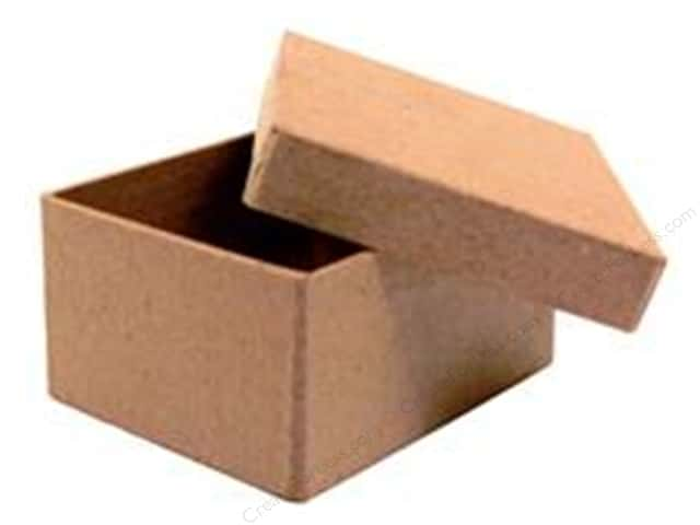Paper Mache Mini Rectangle Box by Craft Pedlars (36 pieces)