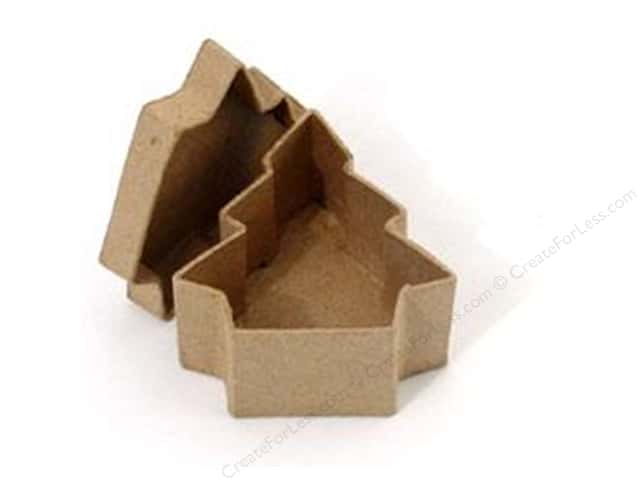 Paper Mache Mini Tree Box by Craft Pedlars (36 pieces)