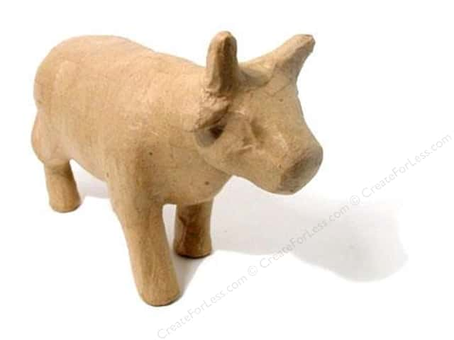 Paper Mache Standing Cow by Craft Pedlars