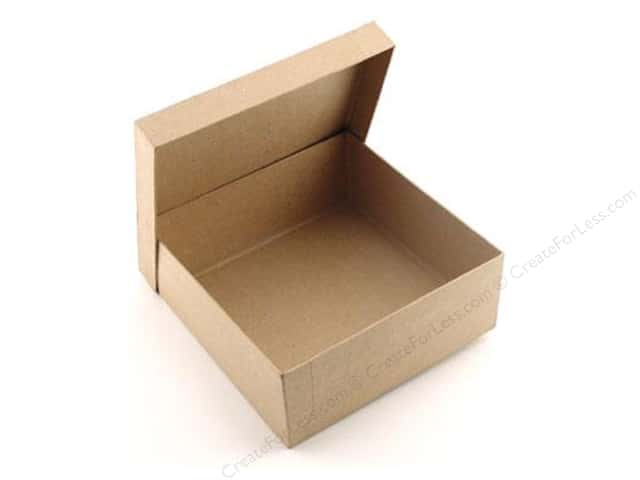Paper mache square box 7 1 2 in by craft pedlars for Craft paper mache boxes
