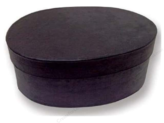 Paper Mache Oval Box 7 1/2 in. Black by Craft Pedlars (12 pieces)
