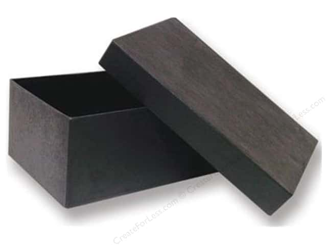 Paper Mache Rectangle Box 7 1/2 in. Black by Craft Pedlars (12 pieces)