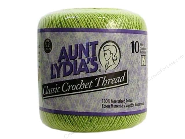 Aunt Lydia's Classic Cotton Crochet Thread Size 10 Wasabi