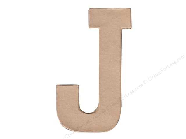 Paper Mache Letter J by Craft Pedlars 8 in.