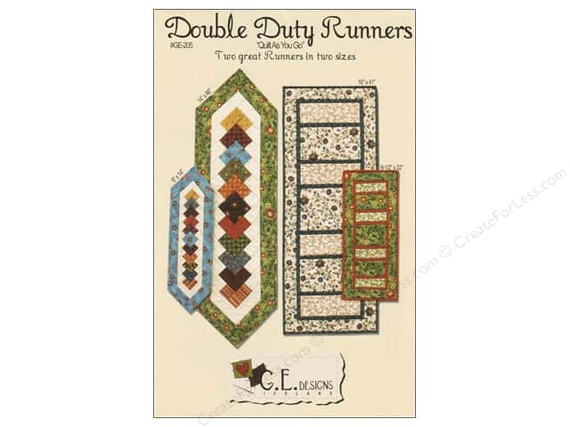 G.E.Designs Double Duty Runners Pattern
