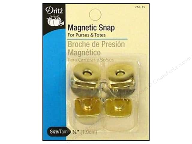 Magnetic Snaps by Dritz Square 3/4 in. Gilt 2 pc.