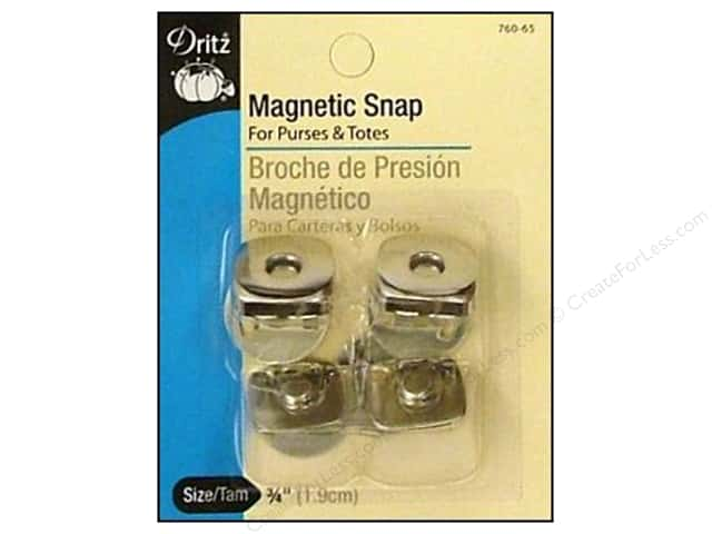 Magnetic Snaps by Dritz Square 3/4 in. Nickel 2 pc.