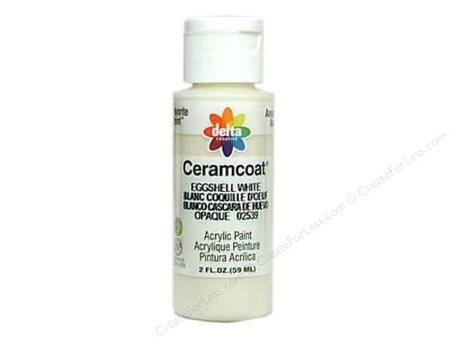 Ceramcoat Acrylic Paint by Delta 2 oz. Eggshell White