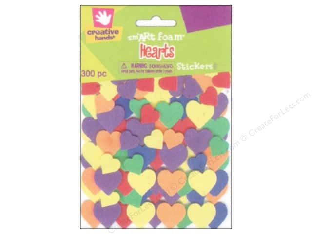 Fibre-Craft Foam Stickers Hearts 300pc
