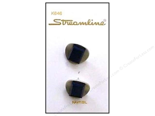Streamline K Series Buttons 3/4 in. Navy #646 2 pc.