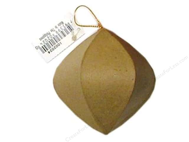Paper Mache Round Ornament Point End by Craft Pedlars (3 pieces)