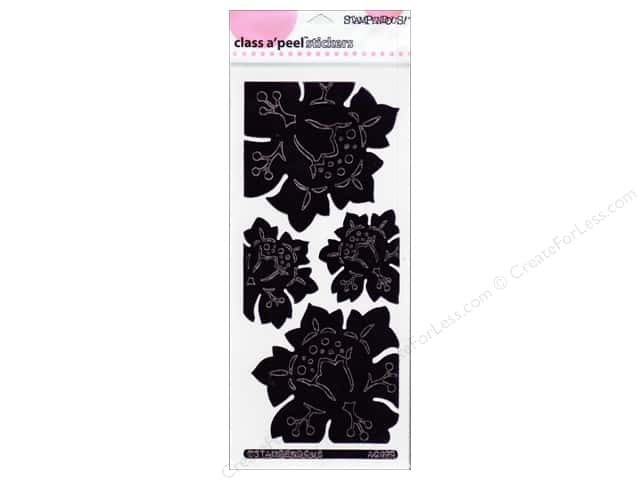 Stampendous Stickers Class A'Peel Jumbo Damask Rose Mirror Black