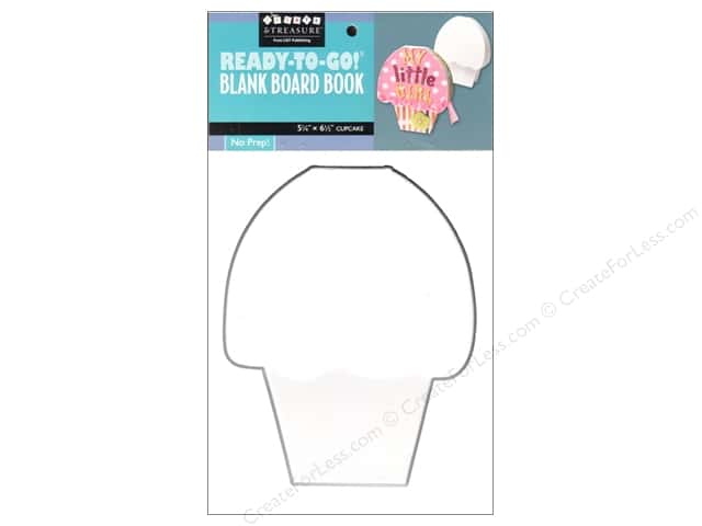 "C&T Ready-to-Go Blank Board Book Cupcake 5.25""x 6.5"""