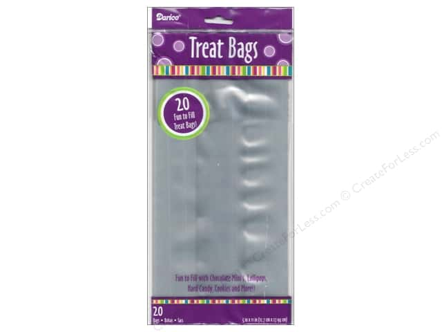 "Darice Treat Bags 5""x 11"" Rectangle Clear 20pc"