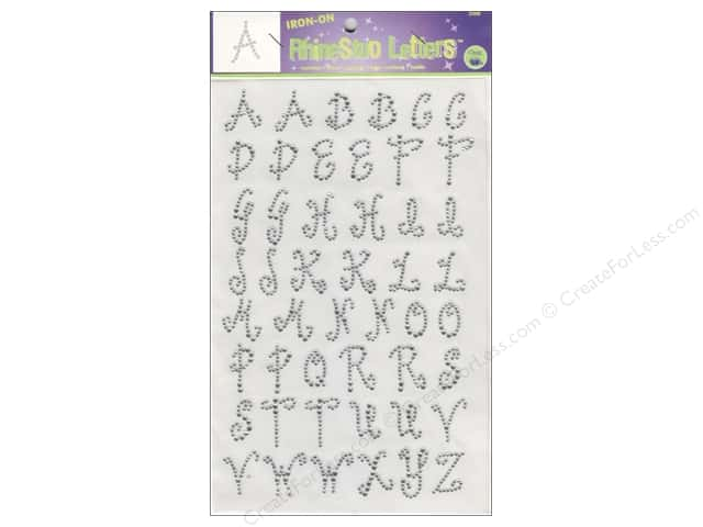 Rhinestud Iron-On Letters by Dritz 1 in. Clear