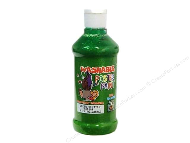 Palmer Washable Glitter Poster Paint 8oz Green Glitter