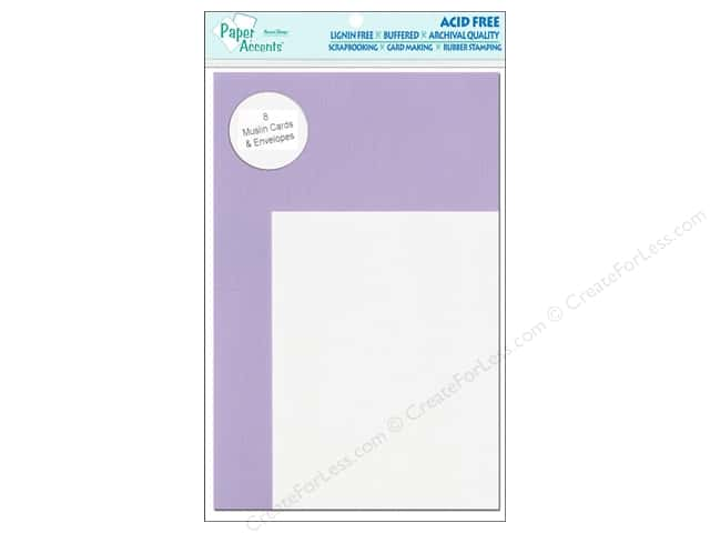 "Paper Accents Card & Envelope 4.25""x 5.5"" Muslin Wild Pansy/White 8pc"