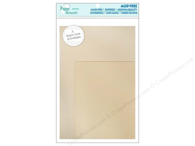 4 1/4 x 5 1/2 in. Blank Card & Envelopes by Paper Accents 8pc. Muslin French Vanilla