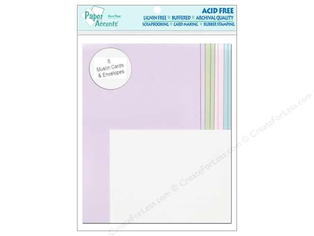 "Paper Accents Card & Envelope 4.25""x 5.5"" Muslin Sweet 8pc"