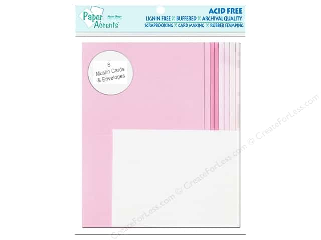 4 1/4 x 5 1/2 in. Blank Card & Envelopes by Paper Accents 8pc. Muslin Princess