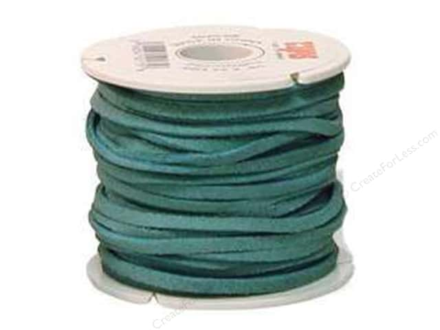 "Leather Factory Suede Lace 1/8""x 25yd Turquoise (25 yards)"