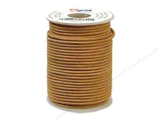 Leather Factory Round Lace 2 mm x 25yd Natural (25 yards)