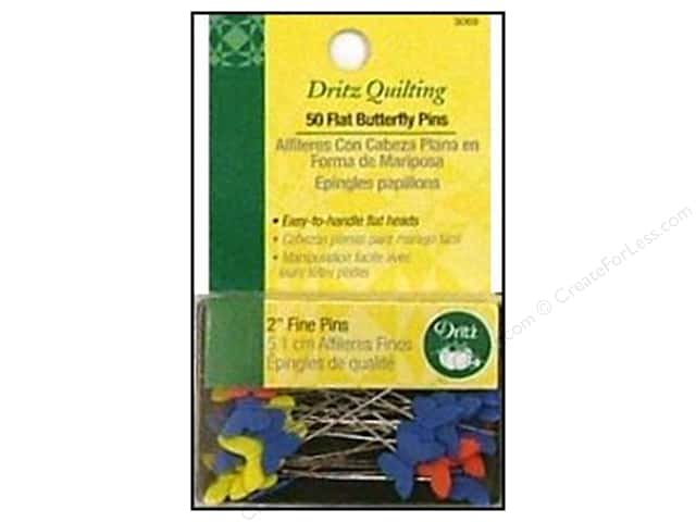 Flat Butterfly Pins by Dritz Quilting 2 in. Fine 50pc.
