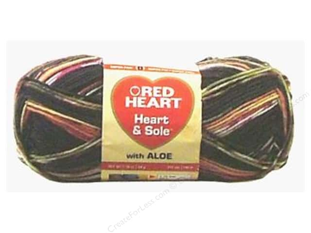 Red Heart Heart & Sole Yarn #3972 Black Jack 213 yd.