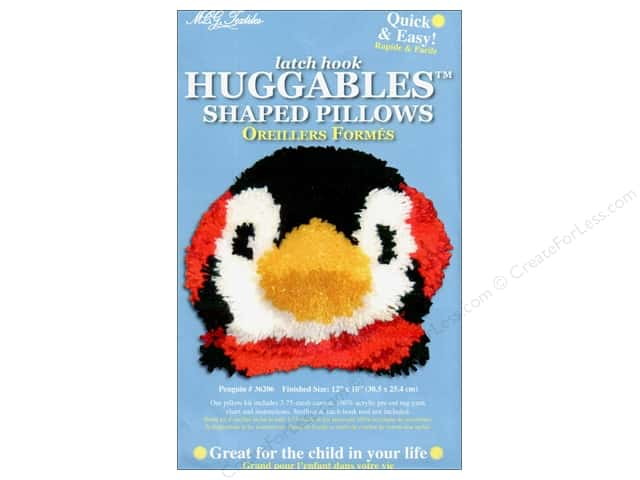 "M.C.G Textiles Latch Hook Kit Huggables Pillow 12""x 10"" Penguin"