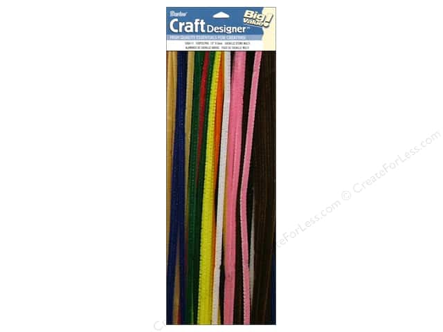 "Darice Chenille Stems 6mm 12"" Multi 100pc"