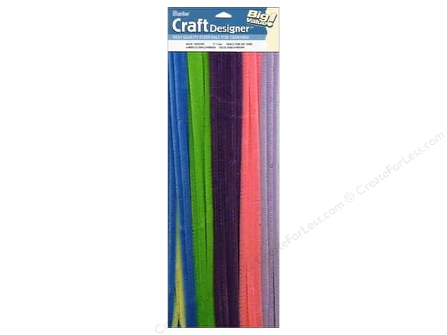 "Darice Chenille Stems 6mm 12"" Spring Assorted 100pc"