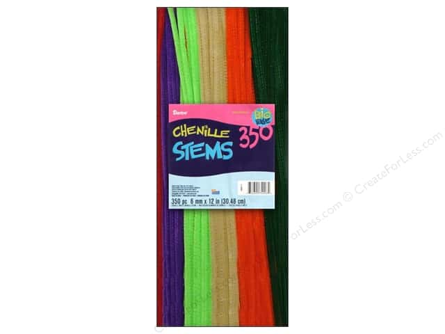 Chenille Stems by Darice 6 mm x 12 in. Multi Color 350 pc.